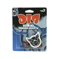 "Pig Skateboard Hardware 1"" Allen Skewers Black/Red Mounting"
