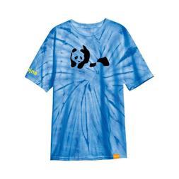 Enjoi Skateboard Shirt Panda Premium Blue Pin Wheel Tie Dye
