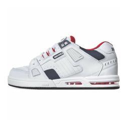 Globe Skateboard Shoes Sabre White/Blue/Red Mens