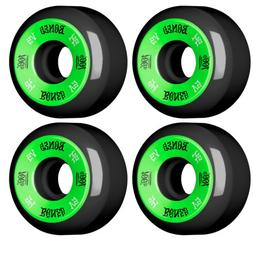 Bones Skateboard Wheels 54mm 100's Black With Reds Bearings