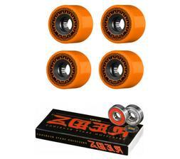 Bones Skateboard Wheels Rough Riders Orange 59mm 80A with Re