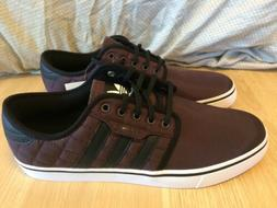 Adidas Skateboarding Nylon Leather Seeley Quilted Burgundy S