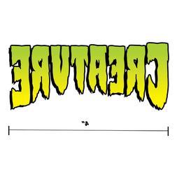 "Creature Skateboards Main Logo Sticker Diecut Decal 4"" x 2"""