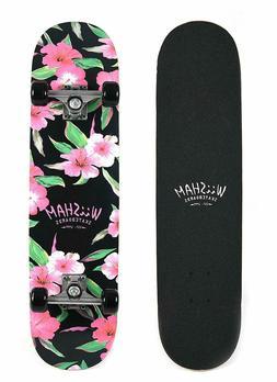 WiiSHAM Skateboards Pro 31'' for Teens,Beginners,Girls,Boys,