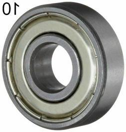 Ten  608ZZ 8x22x7 Shielded Greased Miniature Ball Bearings