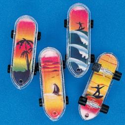 """Lot of 36 Tropical Mini Skateboards Party Favors 2"""""""