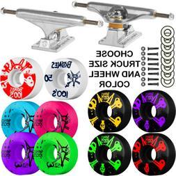 trucks bones skateboard 100 s wheels package