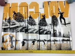 "Vintage Volcom Stone Dustin Dollin Skateboard Poster 26"" X"