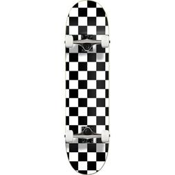"Cal 7 White Checkerboard 8"" Complete Popsicle Skateboard"