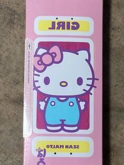 """Girl X Sanrio Hello Kitty Skateboard Deck Sean Malto 8"""" So"""