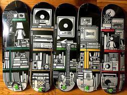 Girl x Sub Pop Complete Set 5 Skateboard Decks with Flexidis